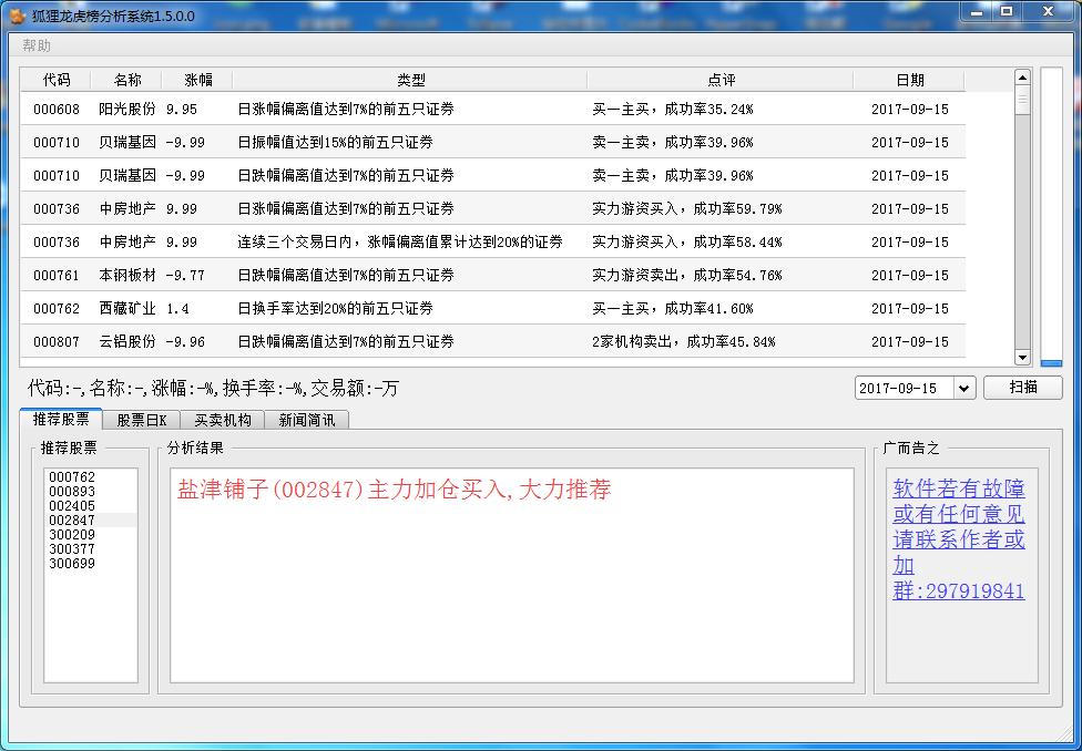 狐狸龙虎榜分析软件
