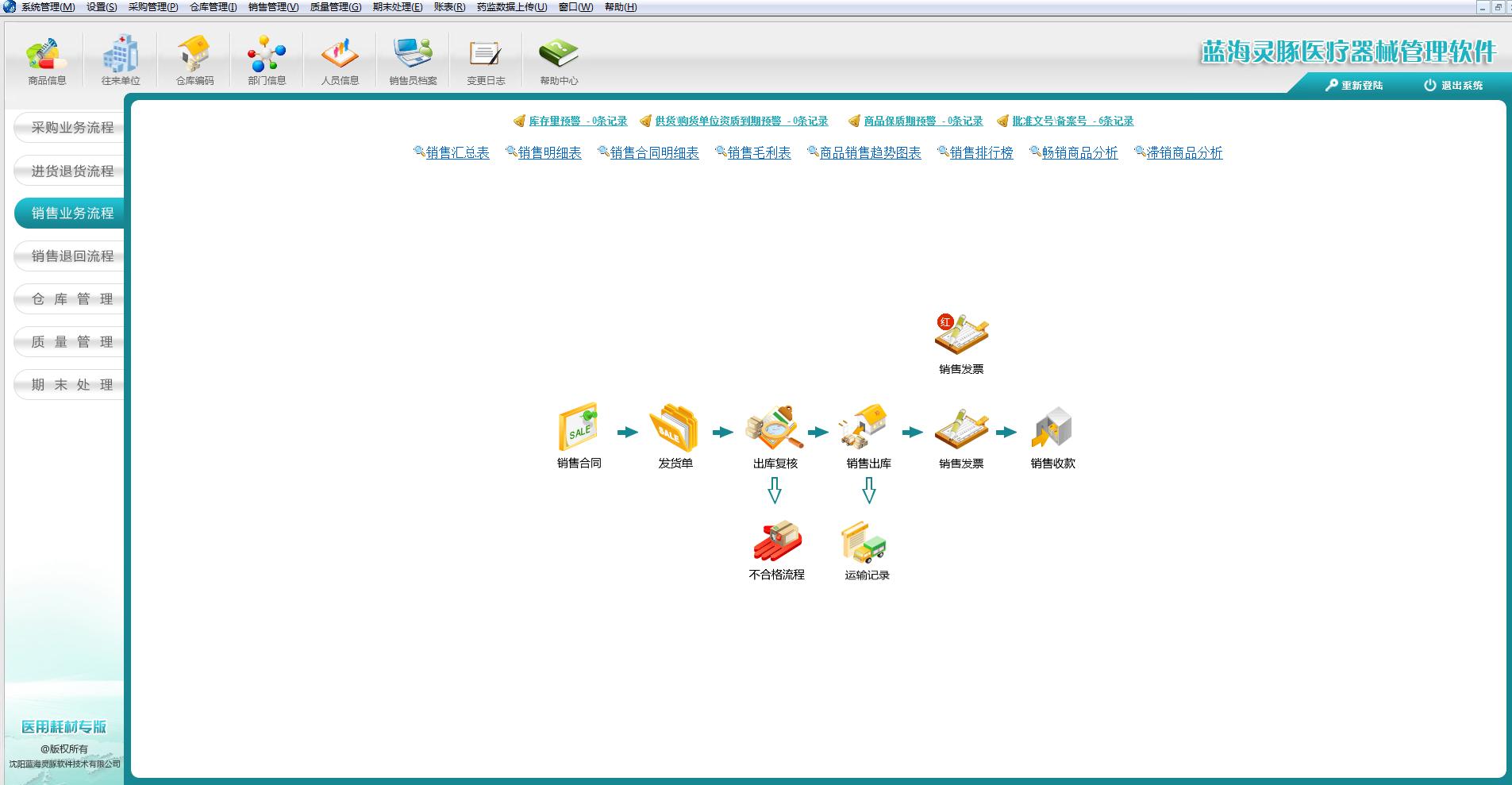 蓝海灵豚医疗器械管理系统
