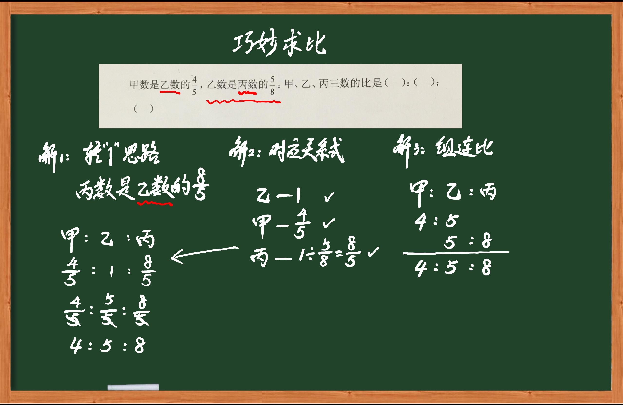 小学数学比的应用之巧妙求比-虎斑教育