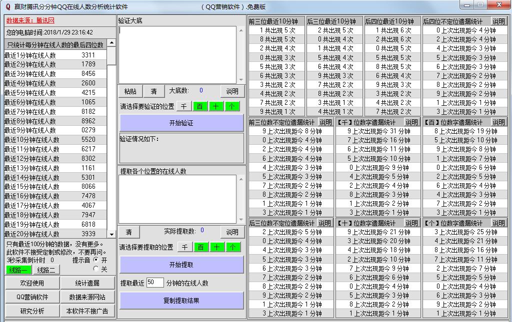 赢财腾讯分分钟QQ在线人数分析统计软件
