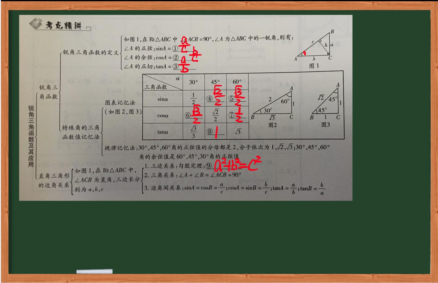 初中数学-锐角三角函数-虎斑教育