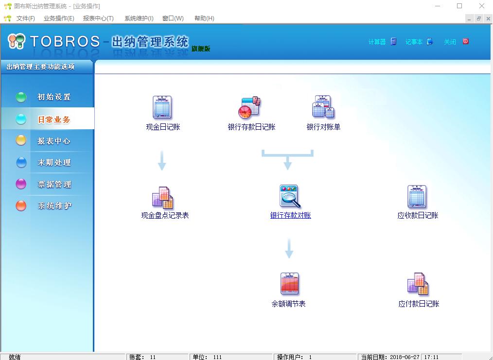 图布斯出纳软件(SQLServer网络版)