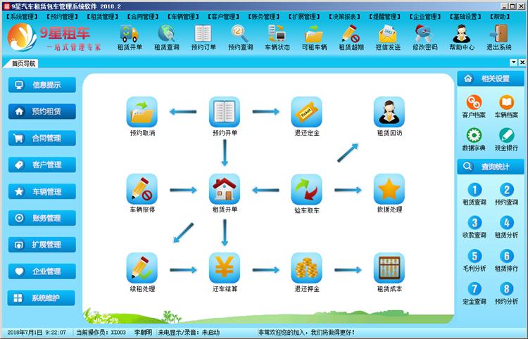 9星汽车租赁包车管理软件
