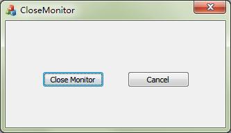 关闭显示器小工具