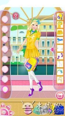 公主宝贝校服装扮