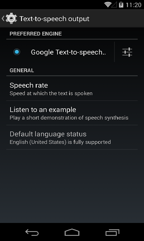 Google Text-to-speech Engine