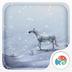 3D雪地上的白马-梦象动态壁...