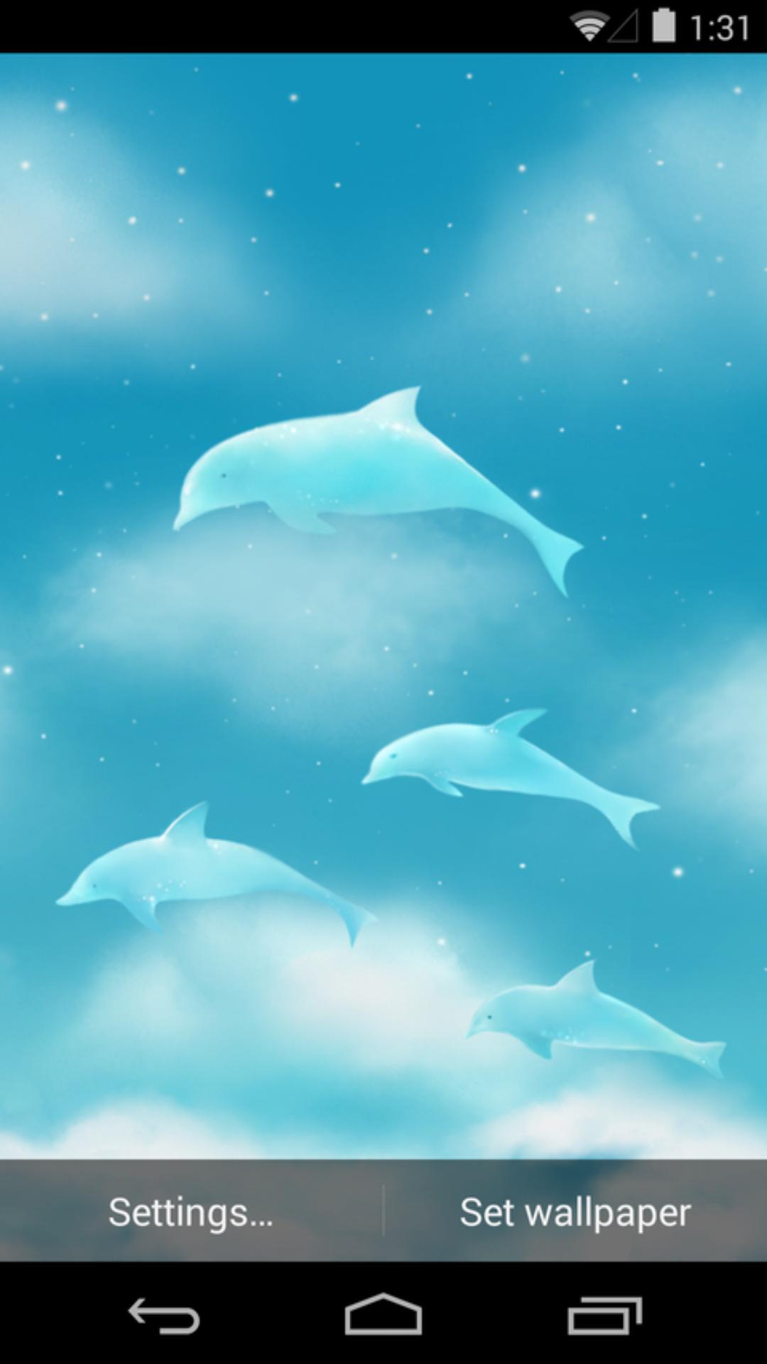 飞舞的海豚-梦象动态壁纸
