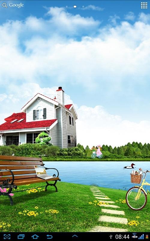 湖畔别墅动态壁纸