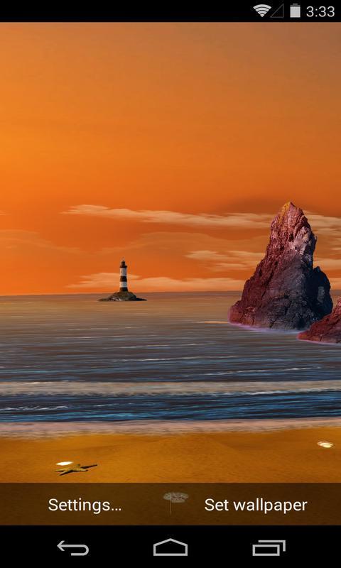 3D暮色海滩-梦象动态壁纸