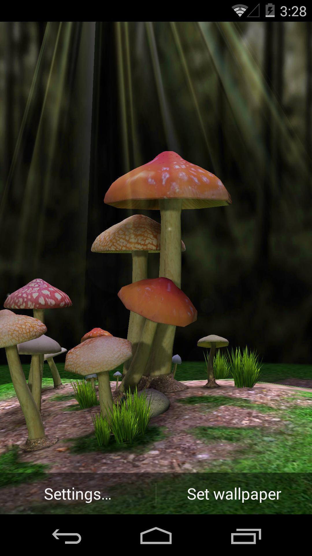 3D蘑菇-梦象动态壁纸