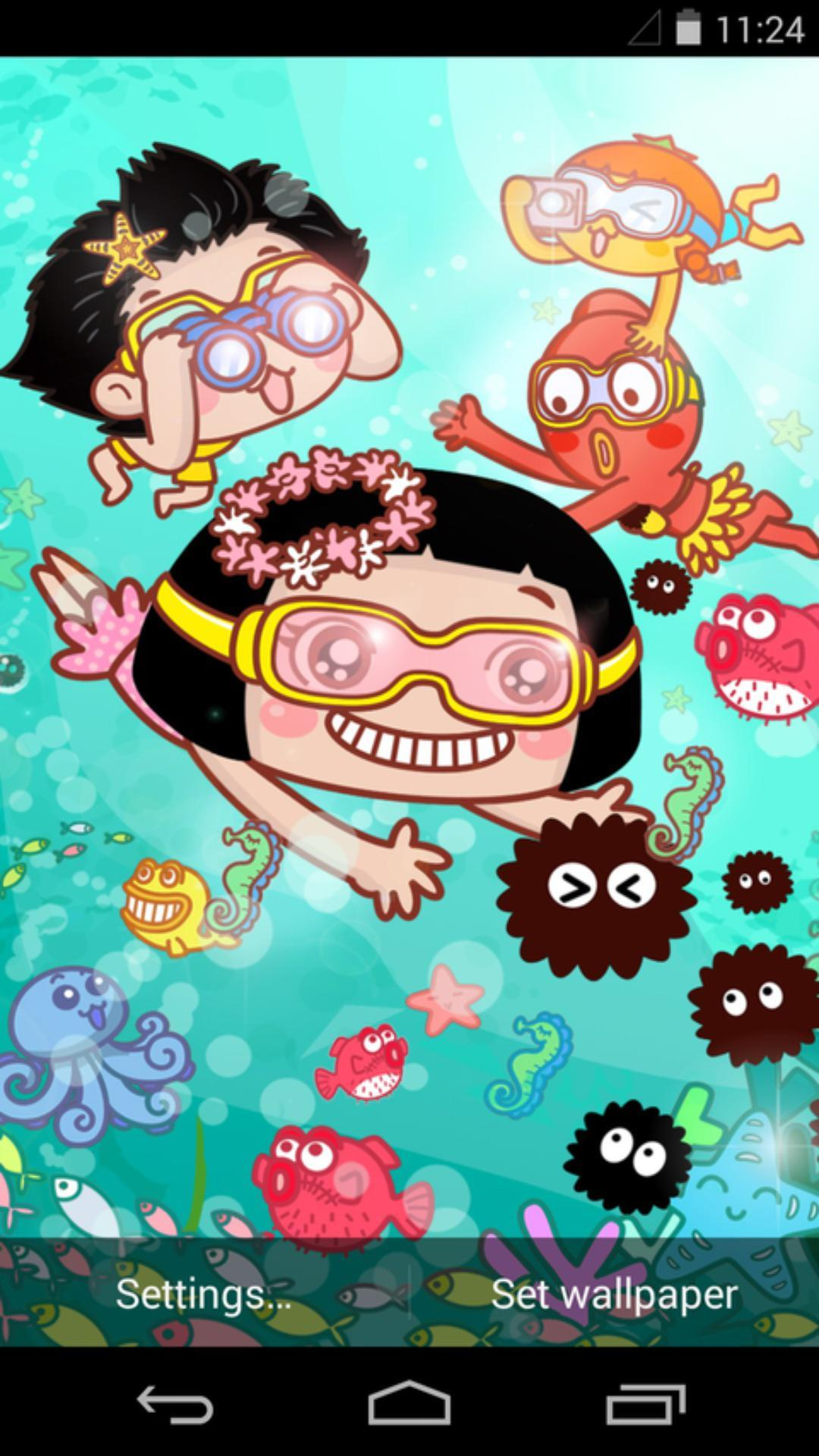 菜菜-海底世界-梦象动态壁