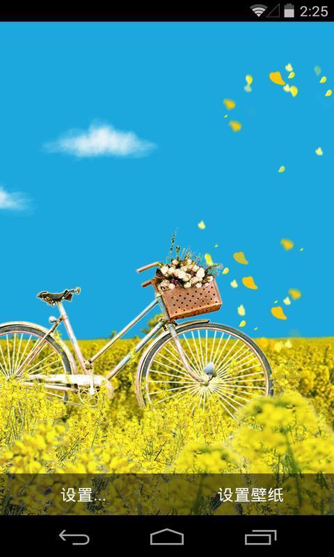 花田脚踏车-梦象动态壁纸