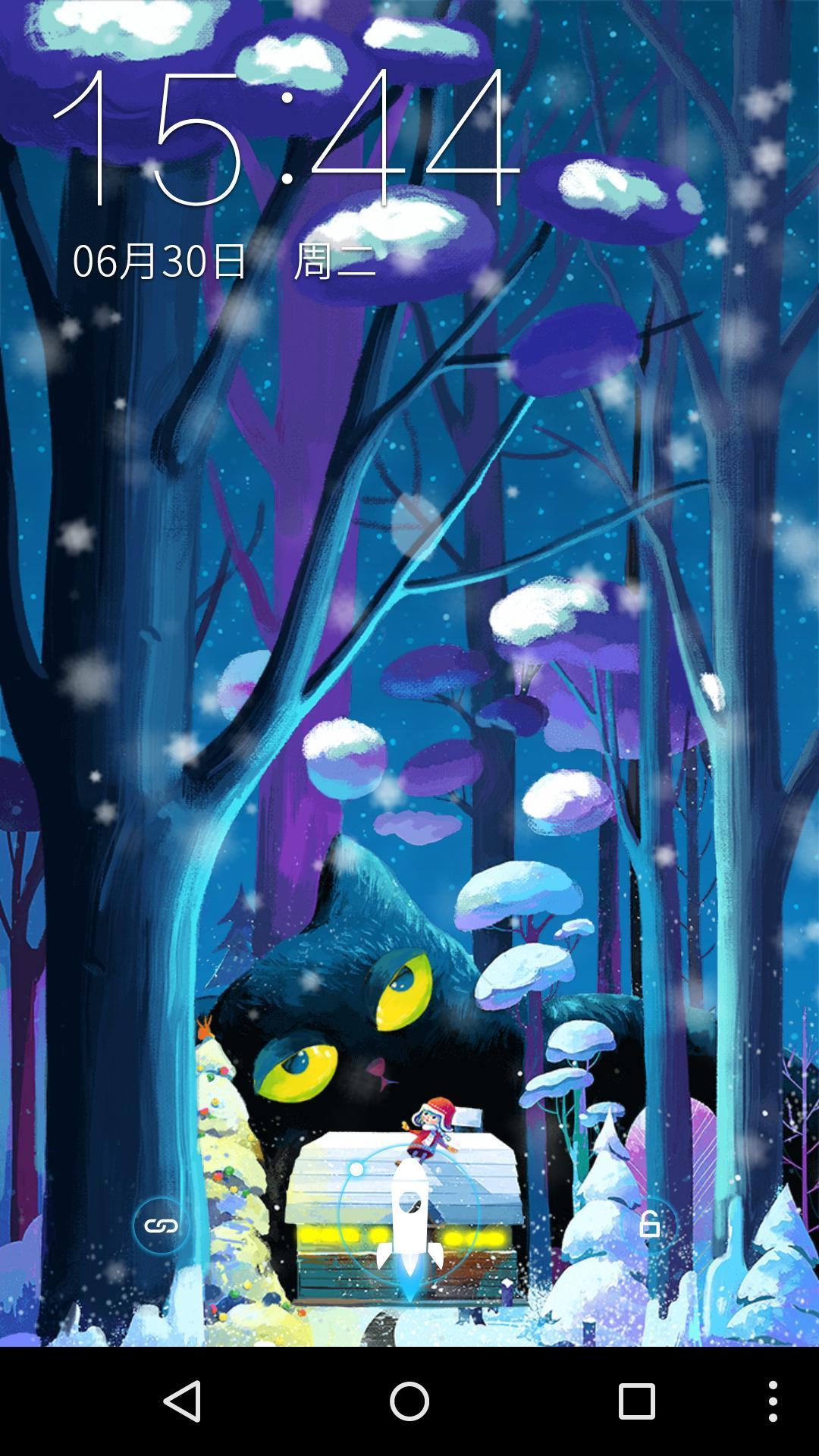 小女孩与猫-梦象动态壁纸