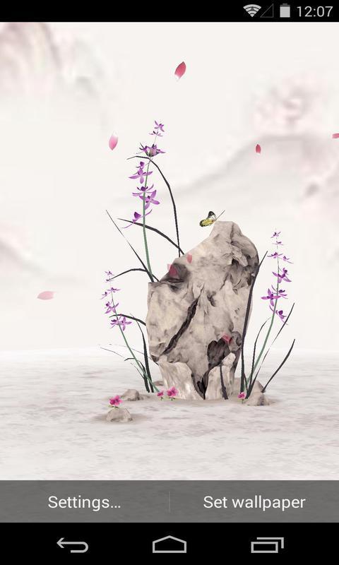 3D水墨兰花-梦象动态壁纸