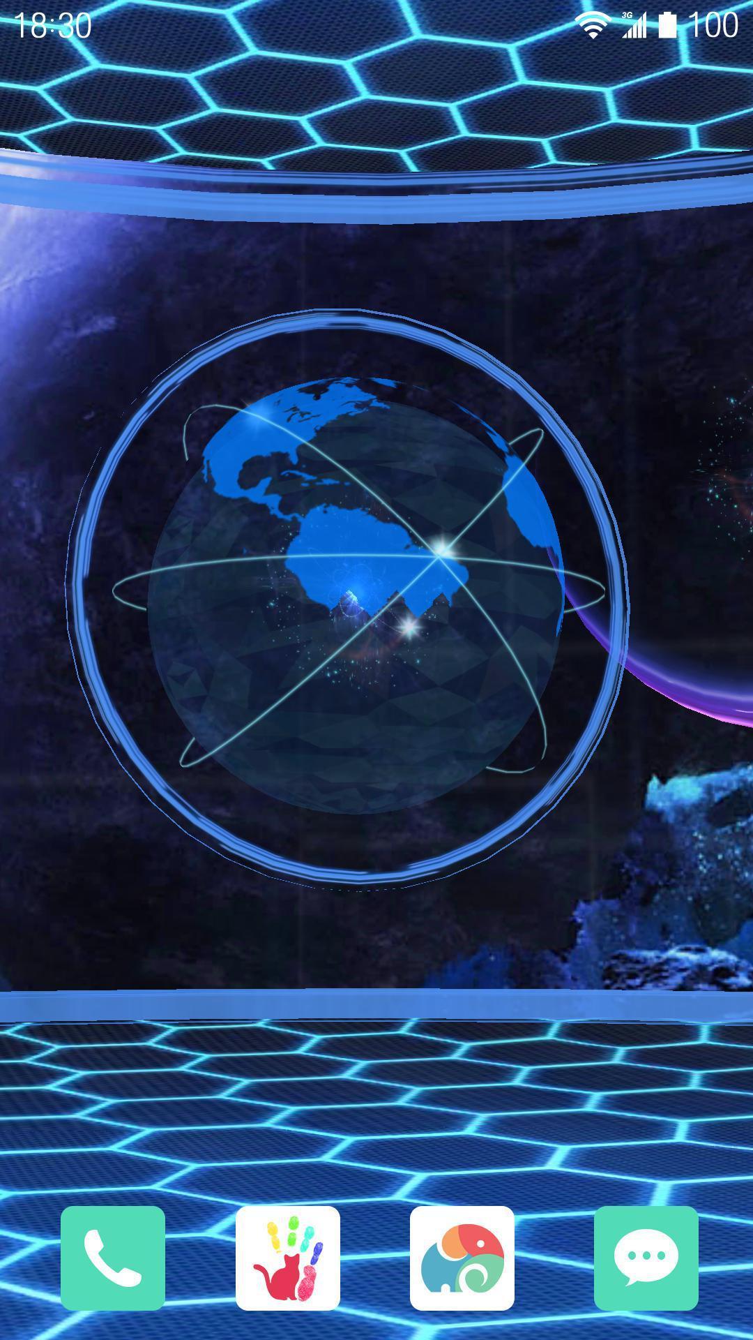3D晶体星球-梦象动态壁纸