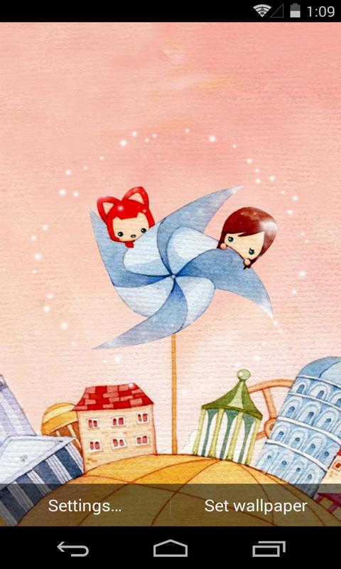 阿狸-风车-梦象动态壁纸