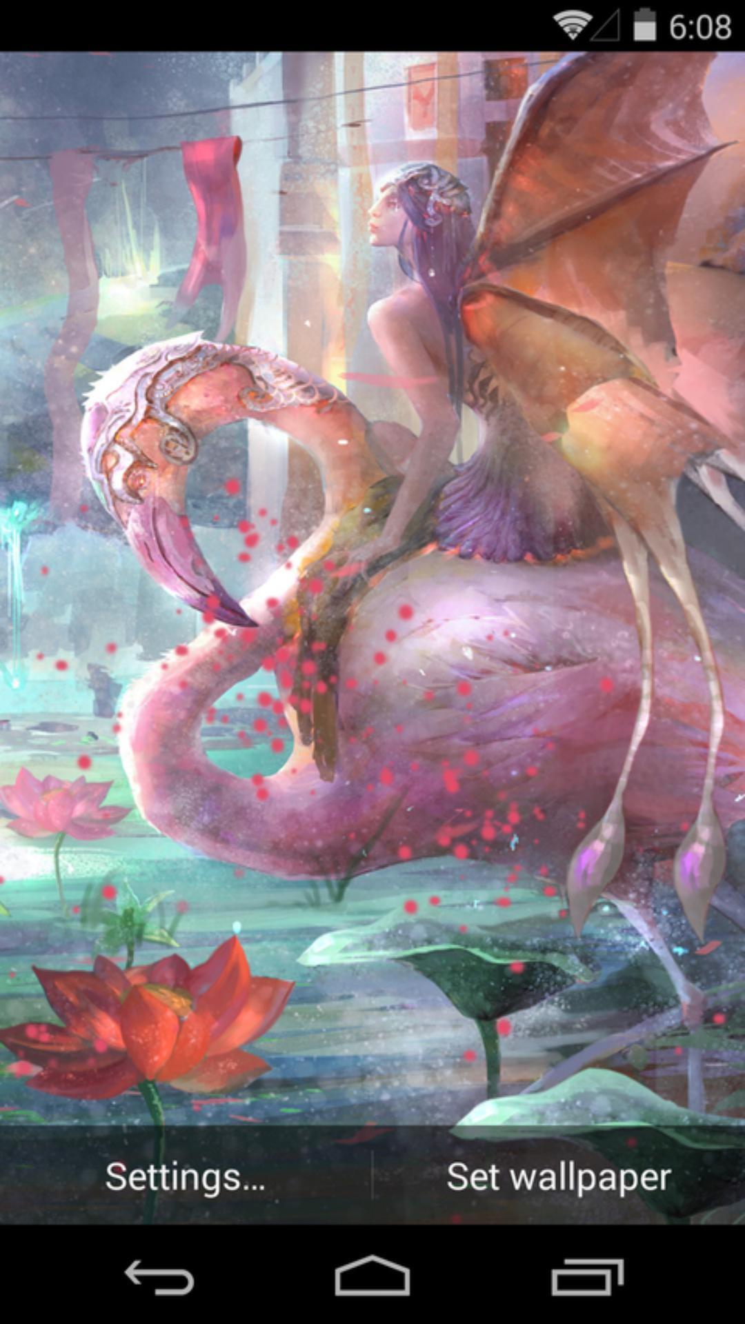 蝴蝶女-梦象动态壁纸