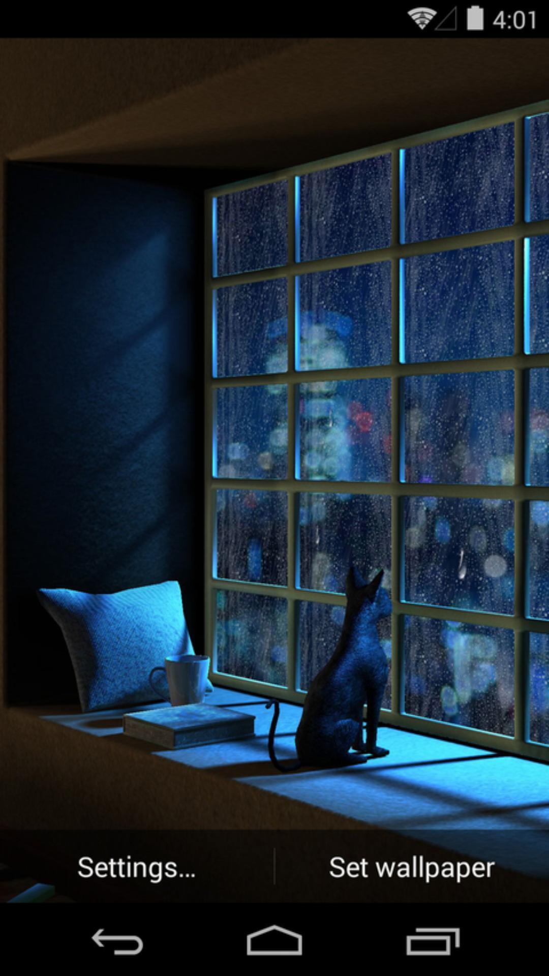 3D雨城-梦象动态壁纸