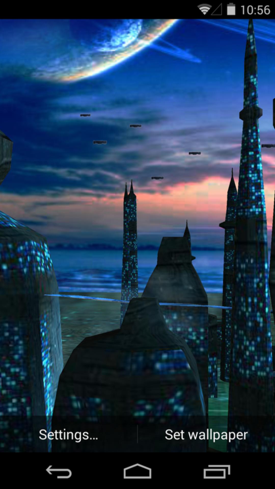 3d蓝色星球-梦象动态壁纸
