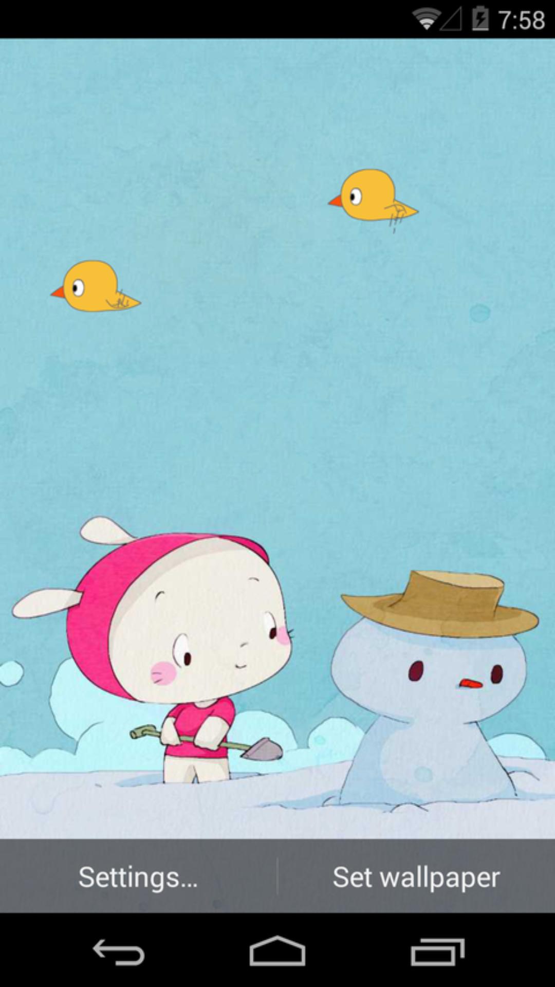 小爱与雪人-梦象动态壁纸
