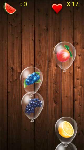戳破水果气球