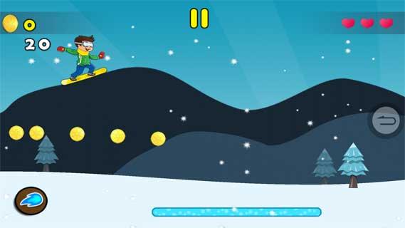 滑板滑雪大冒险