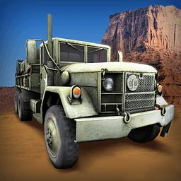 军用卡车驾驶...