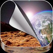 酷星系墙纸免费 – 太空主题与恒星和行星背景 1