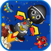 快乐企鹅疯狂射击高炉 - 上瘾的天文屏障太空防御免费 1