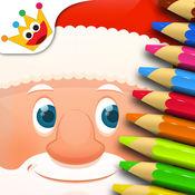 圣诞 - 拼图和色彩为孩子, 学龄前 , 教育 , 逻辑 2.4