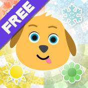 给孩子的免费的开心 Jogi 季节 - 与动物朋友们在春,夏,秋,