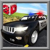 警车司机模拟器3D - 警察驾驶的汽车追逐和逮捕小偷 1