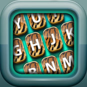 动物纹键盘 – 自定义键盘时尚动物园背景和主题 1