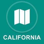 美国加利福尼亚州 : 离线GPS导航 1