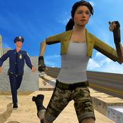 抓住我外面:城市警察追逐屋顶小偷 1