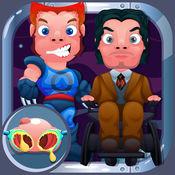 医生鼻子的游戏. 小小 英雄们为孩子们 对于超级英雄最好的