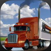 重型卡车司机城市的货物转运3D