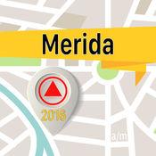 梅里達市 离线地图导航和指南 1
