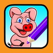孩子着色书图画猪动物游戏 1