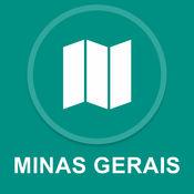 米纳斯吉拉斯州,巴西 : 离线GPS导航 1