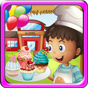 孩子们学校食品狂欢 - 让蛋糕和冰淇淋在这个节日的烹饪游