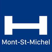 Mont-St-Michel对于今晚与地图和旅行游览比较和预订酒店 1
