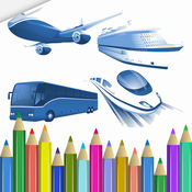 车辆 画画涂色 网页免费游戏 : 游戏与学习 颜色混合 教育