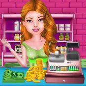 宝宝店商店 & 收银机-超市购物的女孩顶为女孩免费时间管理杂货商店游戏
