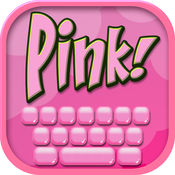 粉 键盘 设计 - 可爱 键盘 对于 女孩 同 背景 墙纸 和 字