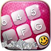 粉红色键盘主题 - 豪华键盘的iPhone 1