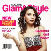 杂志封面 为 名人 - 使假杂志从你的照片 并在第一页上 1