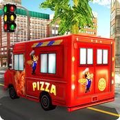 比萨送货车模拟器 - 快餐卡车司机模拟器游戏 1