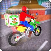 披萨摩托自行车交付3D 1